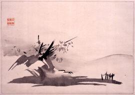 破墨山水図(画稿)