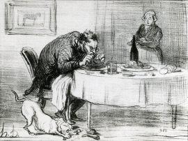馬肉食の場面(パリ市民点描)