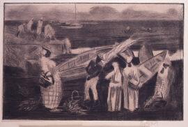 原住民とボート
