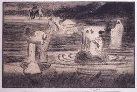 タヒチの洗濯女