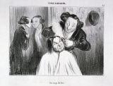 オノレ・ドーミエ《押しつけられた焼ゴテ(パリっ子の典型)》
