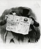 オノレ・ドーミエ《シャリバリ紙の購読》