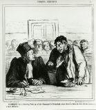 オノレ・ドーミエ《私の事件は引き下げた方が(パリ市民点描)》