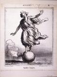 オノレ・ドーミエ《ヨーロッパの均衡(時事問題)》