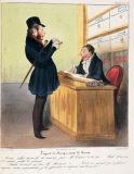 オノレ・ドーミエ《ロベール・マケール物語「証券取引の後の公認仲買人」》