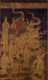 作者不詳《二十五菩薩来迎図(左幅)》