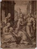 ヘンドリック・ホルツィウス《三王礼拝(マリアの生涯より)》