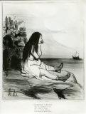 オノレ・ドーミエ《置きざりにされたアリアドネー(古代史)》