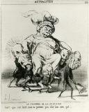 オノレ・ドーミエ《5月31日の法の勝利(時事問題)》