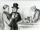 オノレ・ドーミエ《水みたいな酒だ(パリ市民点描)》