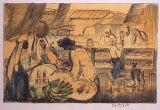 ジョージ・オーウ゛ァーベリー・ハート《市場・サンタ・ドミンゴ》